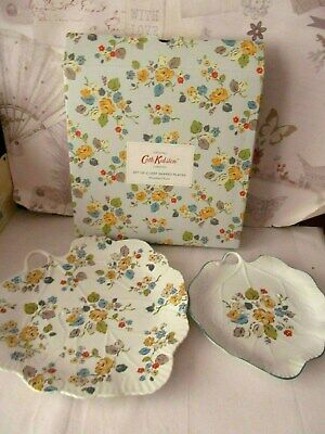 Cath Kidston Woodland Rose Leaf shaped plates Set of Two - New, Boxed