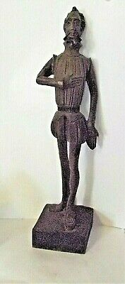 "Don Quixote Ouro Artesania- From Spain- Carved 10 1/2"" Wood Figurine #576"