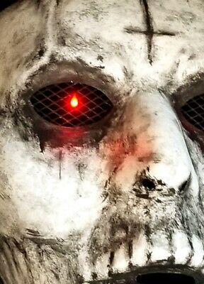 New Detailed The Purge Anarchy Hand Painted Mask with Lights LED Eyes Halloween
