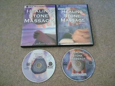 Two (x2) Healing Stone Massage Part 1 and 2 by Carollanne Crichton DVD's