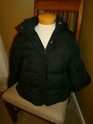 Gap jacket black with hood size large down winter warm coat puffer snow