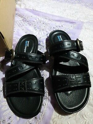 Timberland Earthkeepers leather Ladies Black Sandals sliders Size UK 3.5 EU 36