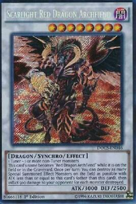 *** Scarlight Red Dragon Archfiend *** Secret First Edition Docs-En046 Yugioh!