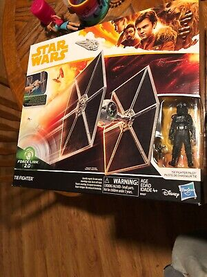 Disney Star Wars Force Link 2.0 TIE Fighter with TIE Fighter Pilot by Hasbro New