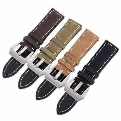 18-24mm-Men Women Unisex Watch Band Replaceable Buckle Leather Watch Strap US