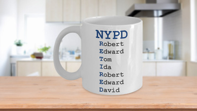 NYPD Retired Coffee Mug Retirement Gift Ceramic Hot Cold Drink Cup