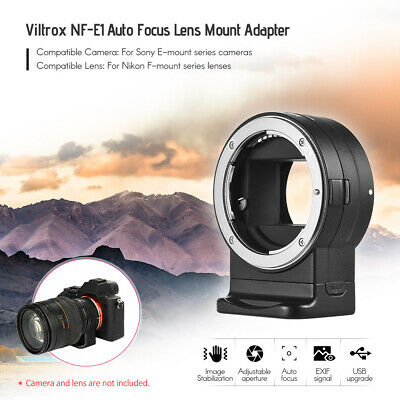 Viltrox NF-E1 Lens Mount Adapter Ring for Nikon F-Mount to Sony E-Mount Camera