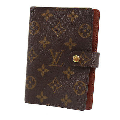 LOUIS VUITTON Agenda PM Day Planner Cover Monogram R20005 Vintage Auth #Z438 W