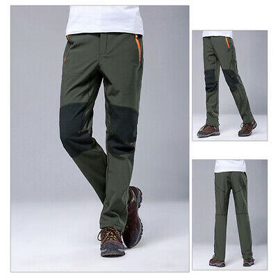Winter Ski Pants Men Outdoor Waterproof Windproof Long Pant Warm Padded Trousers