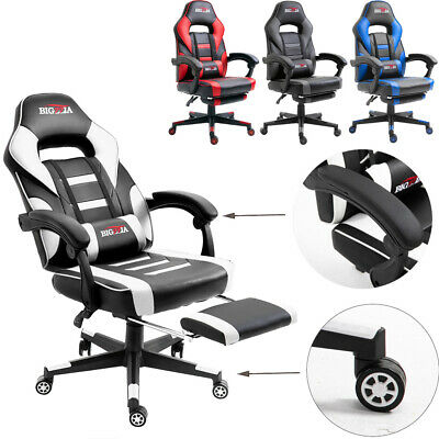 Office Chair Executive Racing Gaming Adjustable Swivel Recliner Leather Computer