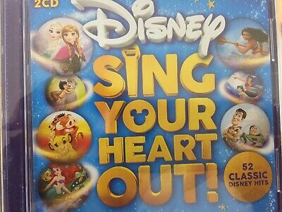 DISNEY SING YOUR HEART OUT - Various 2 x CD 2019 Walt Disney BRAND NEW! 2CD