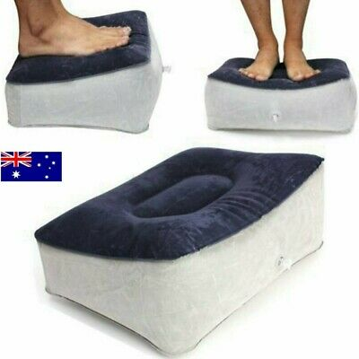 Inflatable Foot Rest Pillow Cushion Air Travel Home Leg Up Footrest Relax Pad AU