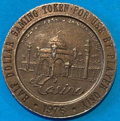 1976 Grand Bahama Half Dollar Casino Token Scarce