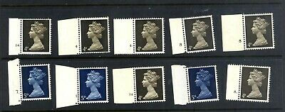 GB. Specialised Machin. Early decimal stamp collec with cylinder numbers. MNH.