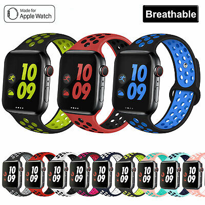 Apple Watch Band Series 5 4 3 2 Sport Soft Silicone iWatch Strap Band Wristband