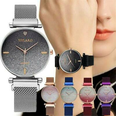 Ladies Watch Starry Sky Wrist Watches Women Bracelet Watches Magnetic Stainless