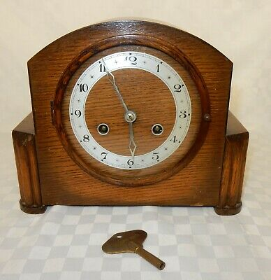 Art Deco Oak Mantel Clock