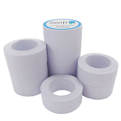 Price Gun Labels 10 Rolls WHITE 22 x 12mm fits MoTEX 22X12 CT1