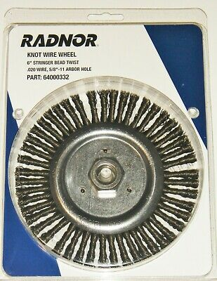 "Radnor 64000332 6"" X 5/8"" - 11"" Carbon Steel Knot Wire Wheel Brush"