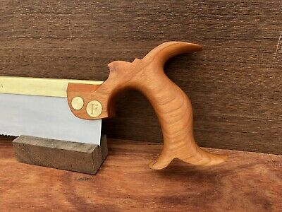 """10"""" Dovetail Saw Cherry Handle Folded Brass Back"""