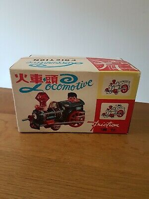 Red China Tin Toy Friction Blechspielzeug MF 917 Locomotive