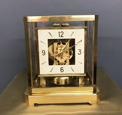 Square Face Le Coultre & Cie Atmos Clock Great Working Condition