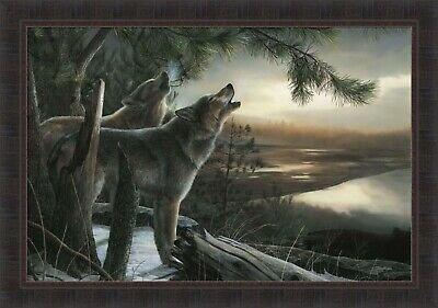Wild Ones by Kevin Daniel 29x41 Howling Wolves Wolf Pack FRAMED PRINT PICTURE