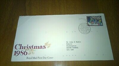 1986 Christmas 12p Discount Stamp  First Day Cover with insert
