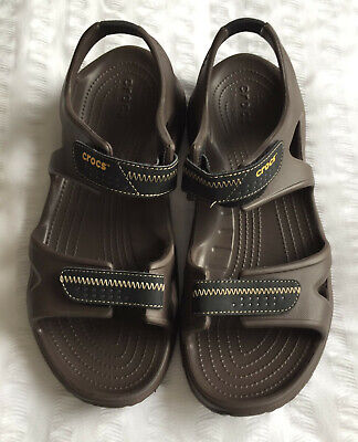 Mens Swiftwater River Size 12 & 11 Brown Crocs Sandals (Please read description)