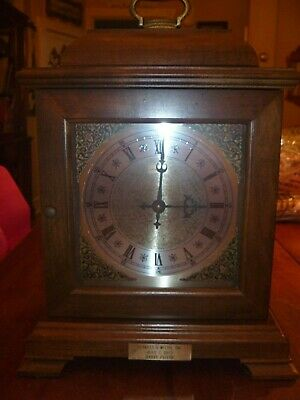 Vintage Hamilton Triple Chime Mantel Clock Battery Operated Working