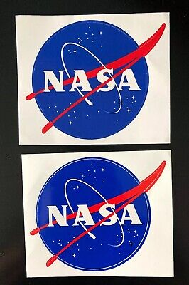 "NASA ""MEATBALL"" STICKER (Lot Of 2) Outdoor Vinyl Decal 3.5"" Made in USA NEW!"