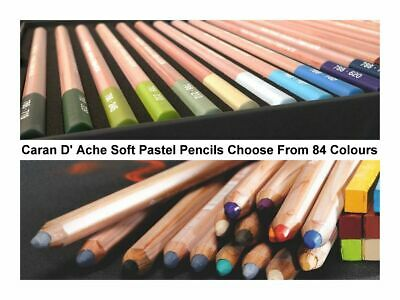 Caran D'ache Artists Quality Soft Dry Pastel Pencil Full Range Of 84 Colors