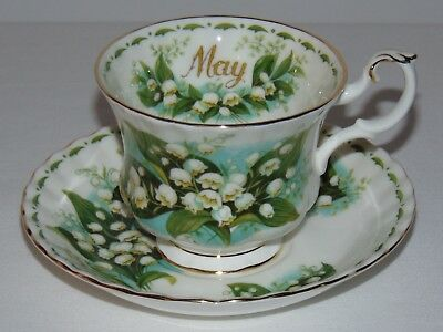 Vintage Royal Albert English Bone China Teacup & Saucer  May Lily Of The Valley
