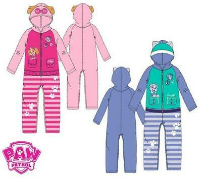 Girls HS2085 Paw Patrol Fleece Hooded Sleepsuits / Pyjamas Size: 3-6 Years