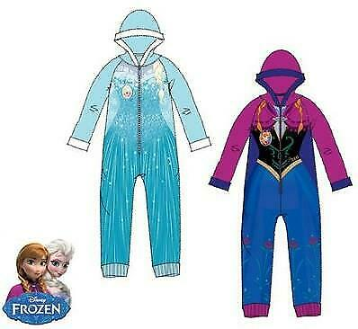 Girls HS2095 Disney Frozen Fleece Hooded Sleepsuits / Pyjamas Size: 4-8 Years
