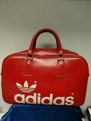 Vintage Adidas Sports Holdall In Red.