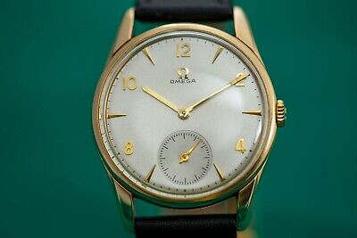 STUNNING SOLID GOLD 9k VINTAGE SUB DIAL OMEGA CAL.269 DATED 1964 WATCH!!!