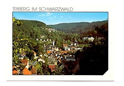Triberg im Schwarzwald Germany Postcard Black Forest Town Aerial View Unposted
