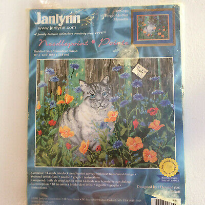 Janlynn Cat Tapestry `Myosotis` Forget-Me-Not