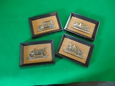 Vintage PIONEER Car wall decor plaques 3D Relief Automobile Collector WOOD&BRASS