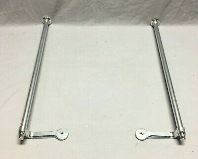 "ONE Pr Vtg NOS 22"" Chrome Brass Sink Side Wall  Mount Towel Bar MCM Deco 262-19J"