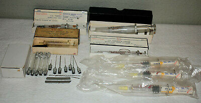 22. Collection Of Vintage Glass Hypodermic Needles, Syringes / B-D Yale / In Box