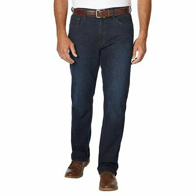 Urban Star Men's Relaxed Fit Straight Leg Jeans Dark Wash