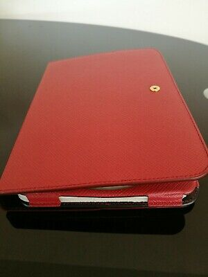 New Smythson of Bond Street Leather iPad Case In Red, iPad mini, standing cover