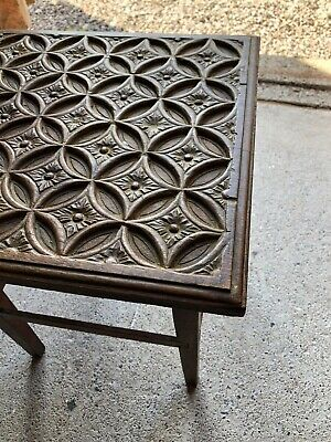 Vintage Antique Carved Accent Side Occasional Table Quality Item (R_09)