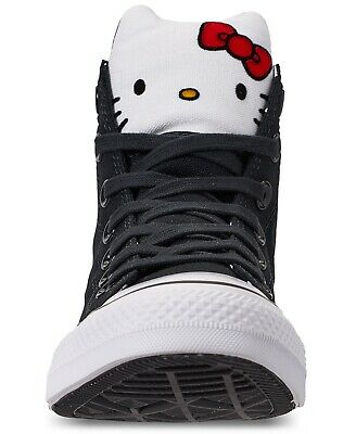 Girls Converse Hello Kitty CTAS Hi Sneakers Black/White Style:363911F Size: 12