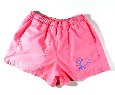 Vintage 90s Primitif I Club Surf Shorts Swim Trunks Mens Neon Pink Nylon