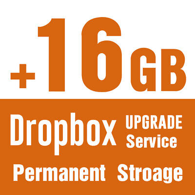Extra +16 GB Service Storage Dropbox Upgrade Expansion Total 18GB for Lifetime