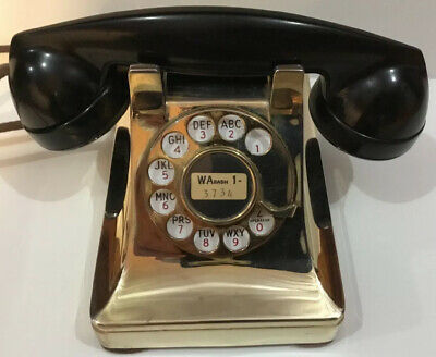 Western Electric telephone Model 302 Restored Gold/ Brass Plated 1939 Nice L@@k!
