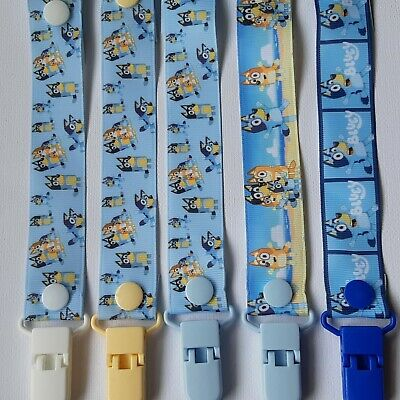 BLUEY / DOG  / Dummy Clip  / Clips / Pacifier Clips / Chain